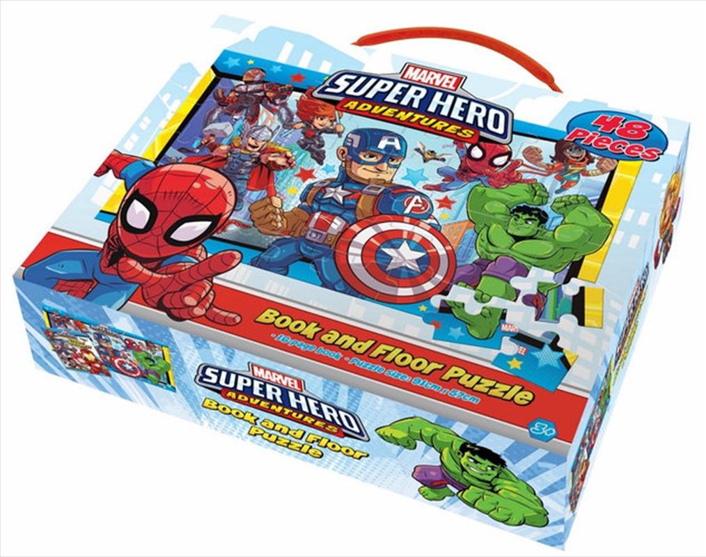 Marvel Superheroes Book And Floor Puzzle | Merchandise