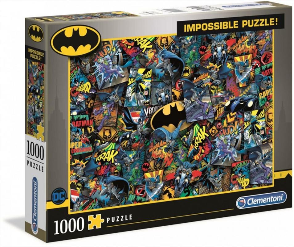 Clementoni Puzzle Batman Impossible Puzzle 1,000 pieces | Merchandise