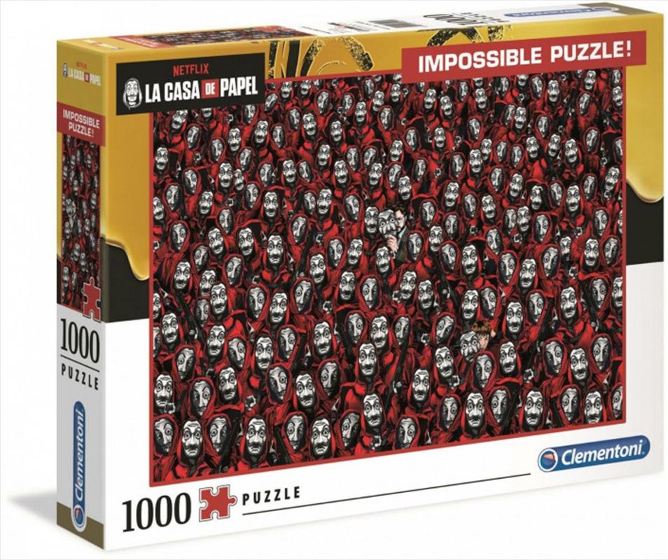 Clementoni Puzzle Netflix Money Heist (La Casa De Papel) Impossible Puzzle 1,000 pieces | Merchandise