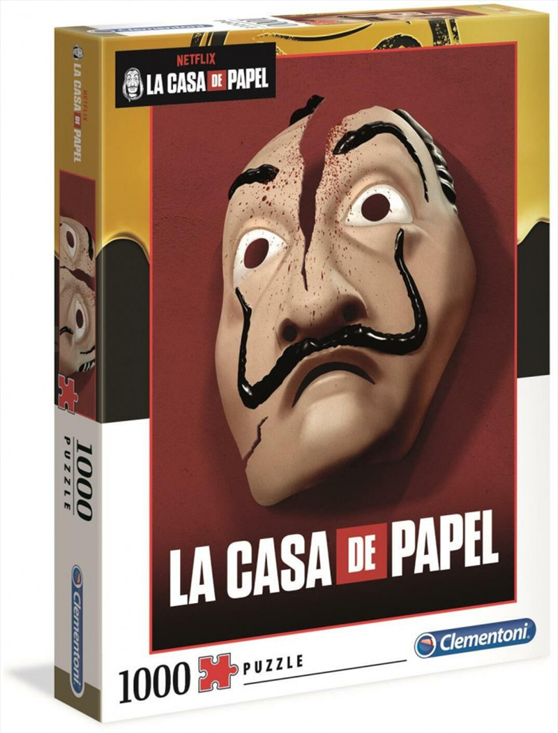 Clementoni Puzzle Netflix Money Heist (La Casa De Papel) Puzzle 1,000 pieces | Merchandise