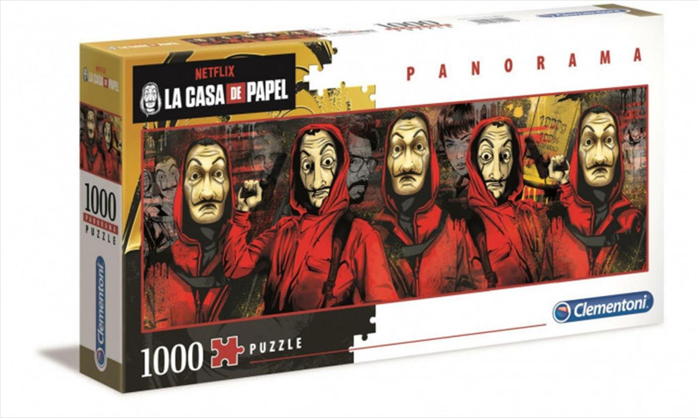 Clementoni Puzzle Netflix Money Heist (La Casa De Papel) Panorama Puzzle 1,000 pieces | Merchandise