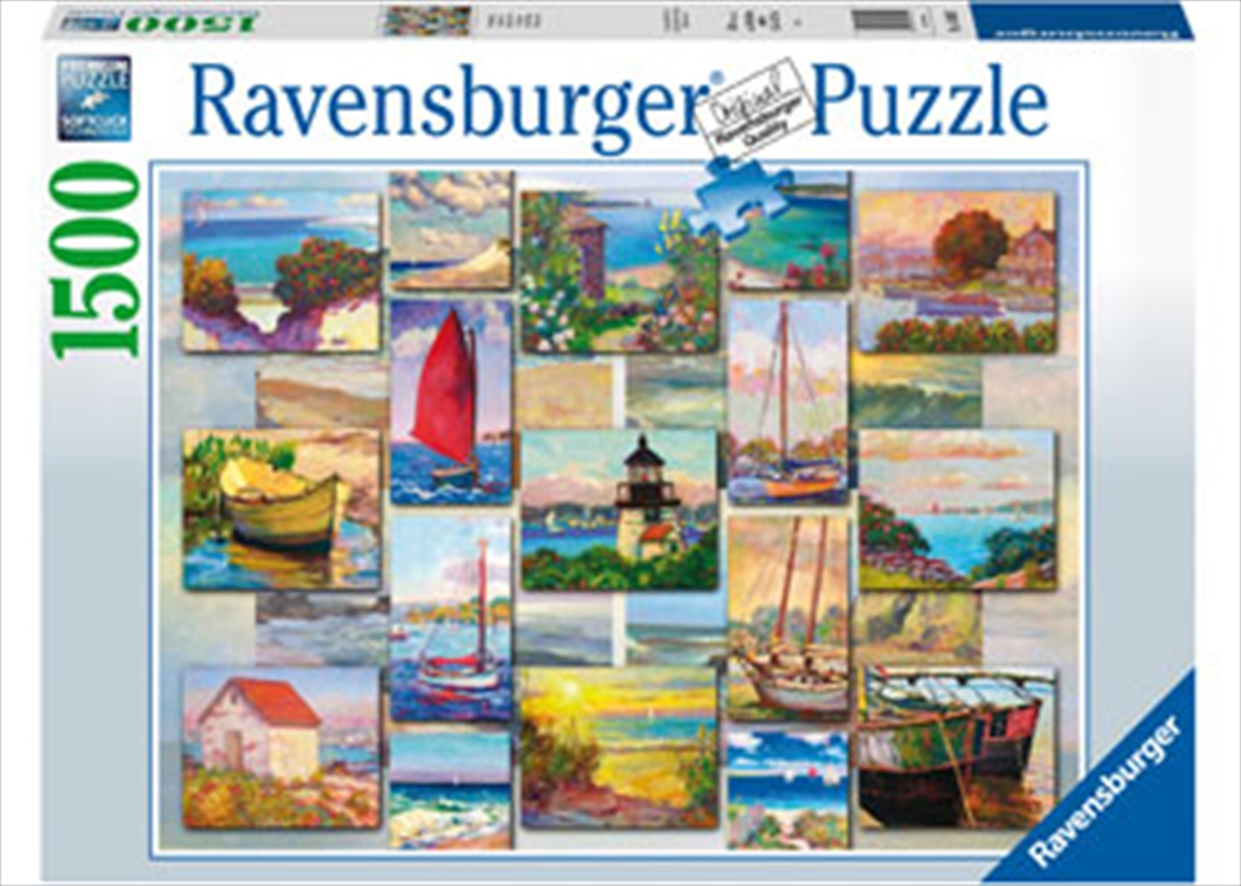 Coastal Collage Puzzle 1500pc | Merchandise