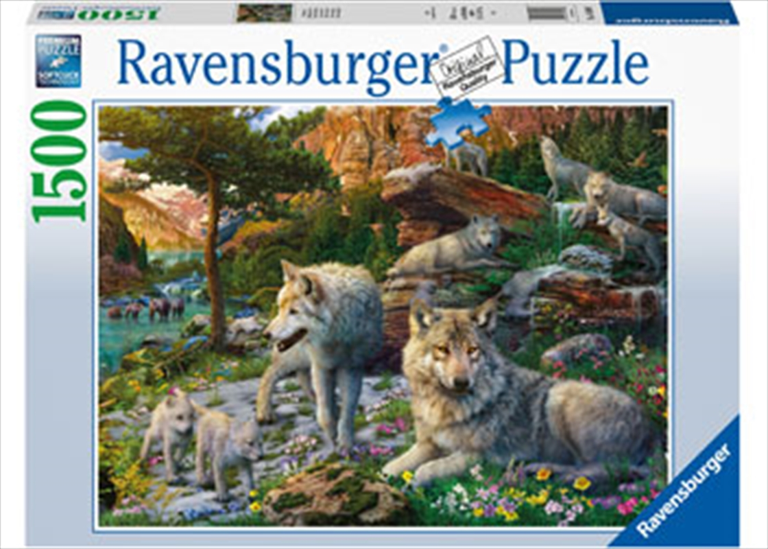 Wolves In Spring 1500pc Puzzle | Merchandise
