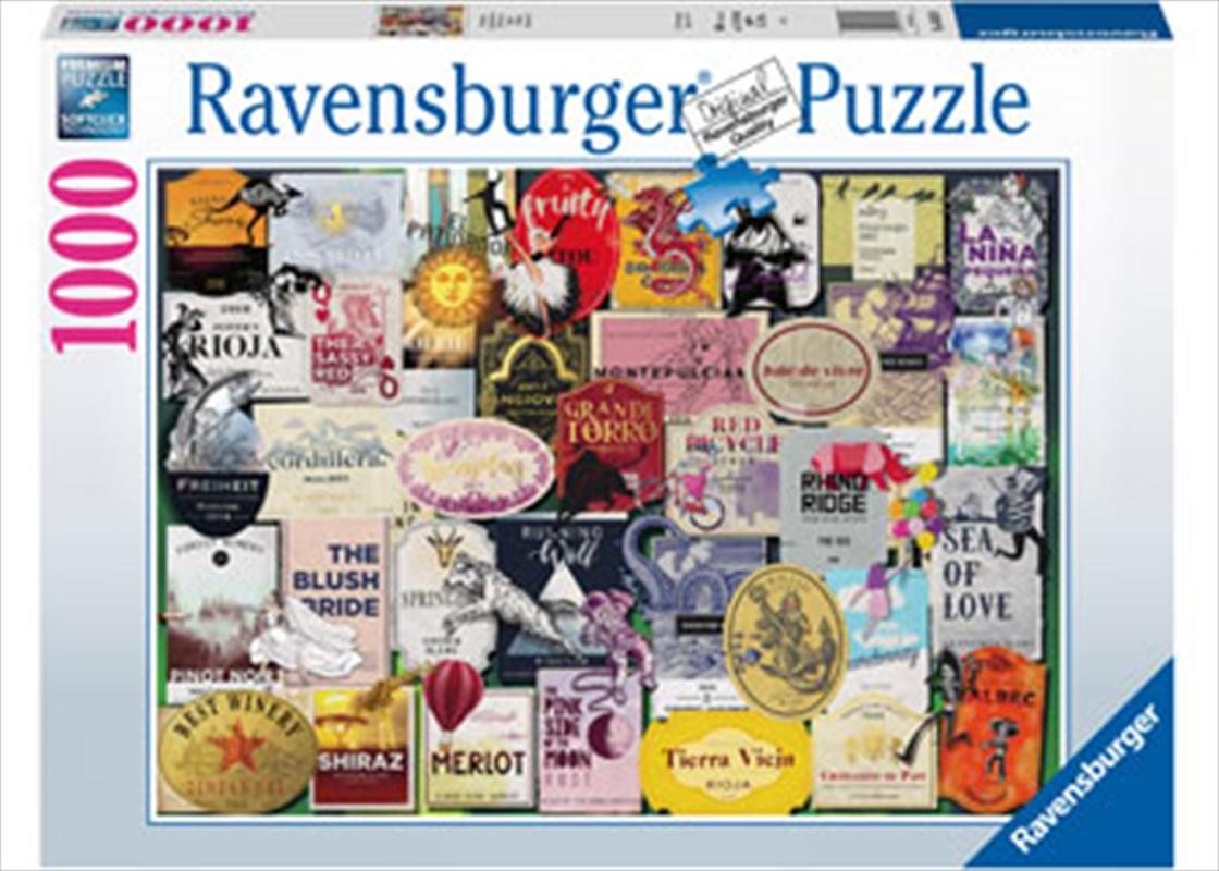 Wine Labels Puzzle 1000pc | Merchandise