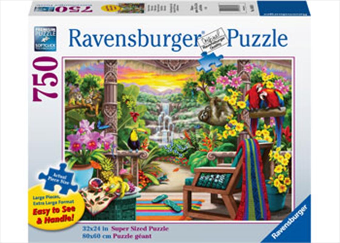 Tropical Retreat 750 Piece Large Format Puzzle | Merchandise