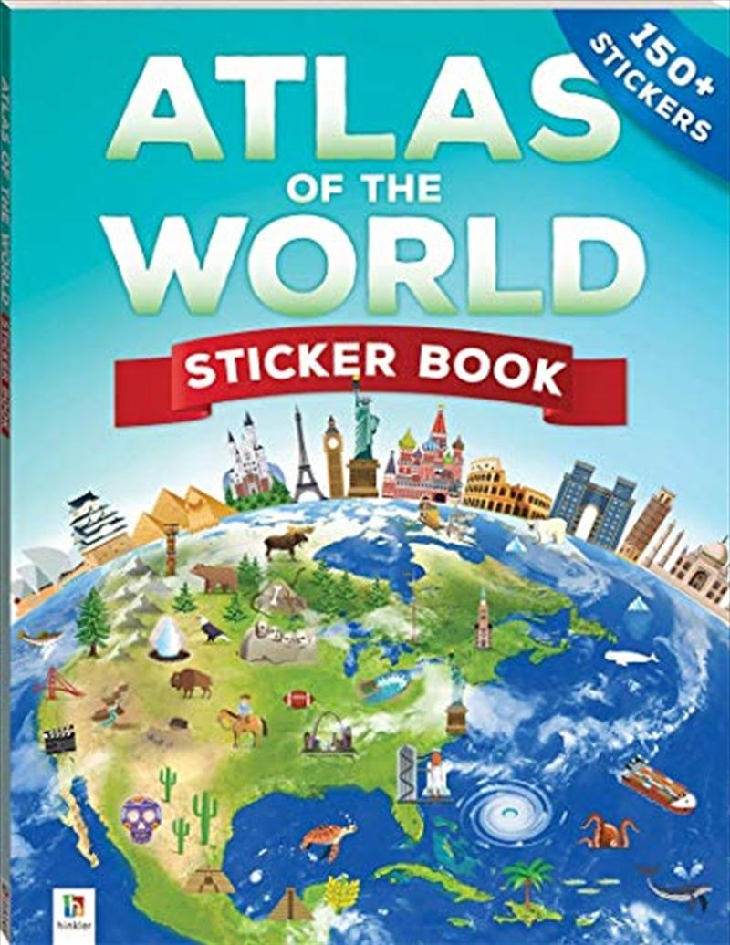 Sticker Atlas of the World   Books