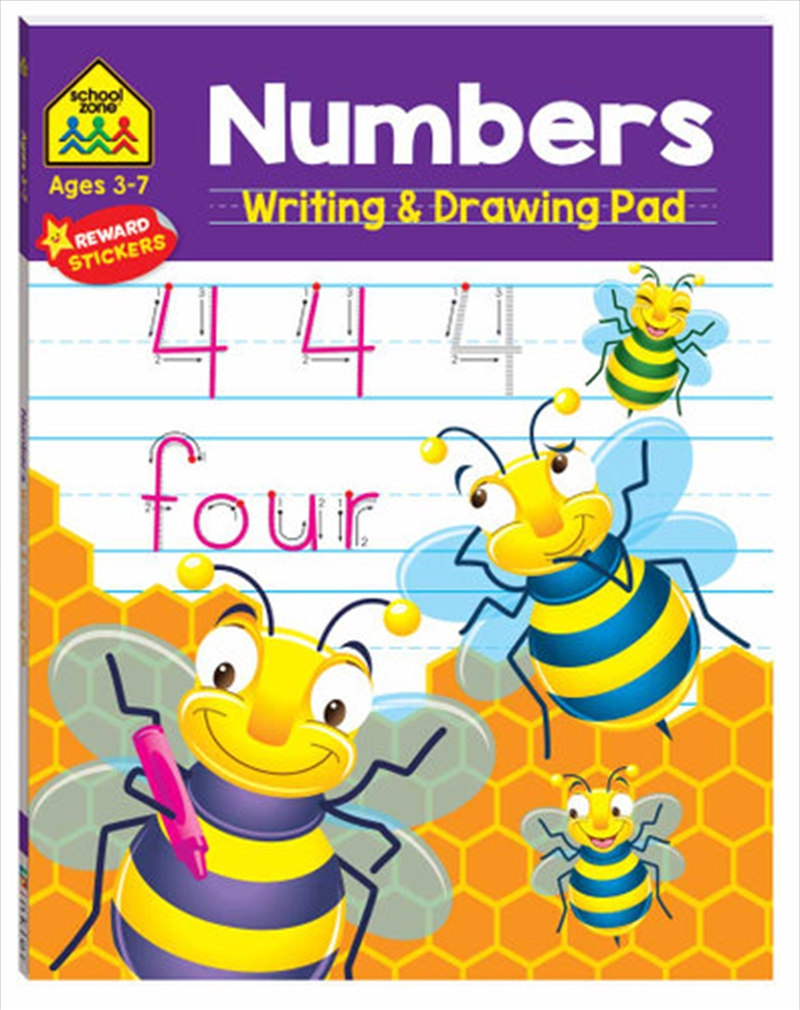 School Zone Numbers Writing and Drawing Pad | Books