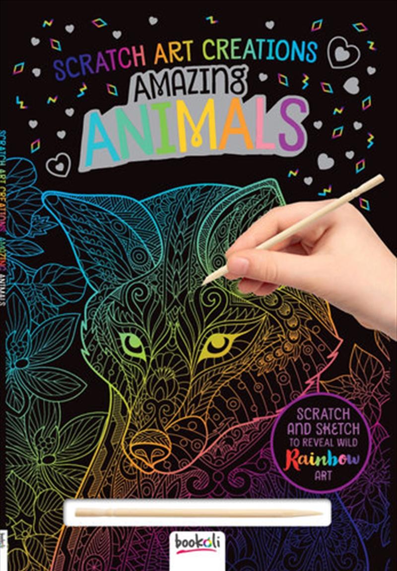Scratch Art Creations: Amazing Animals   Books