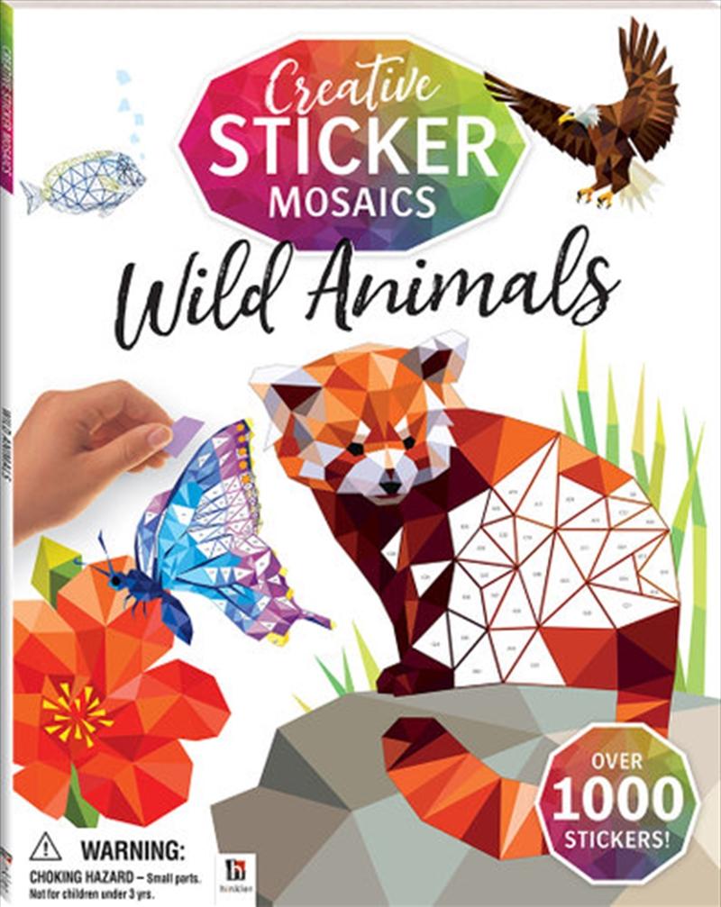 Creative Sticker Mosaics: Wild Animals | Books