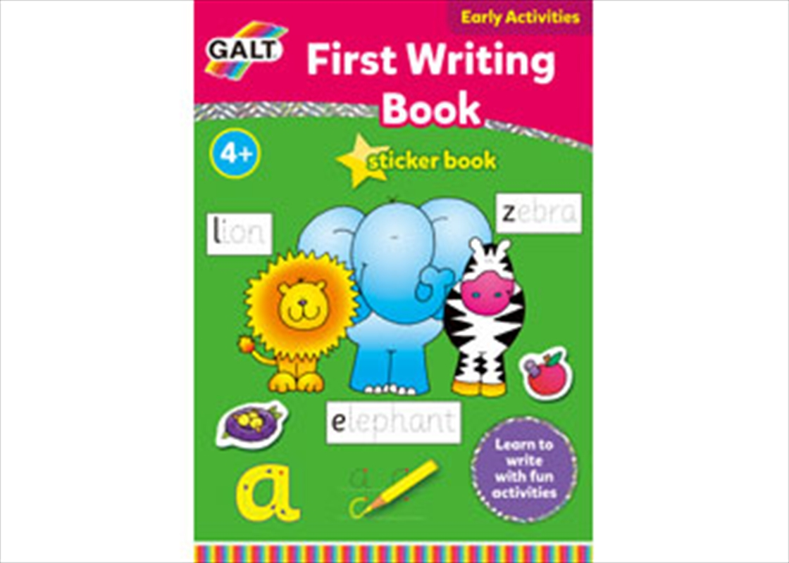 First Writing Sticker Book | Books