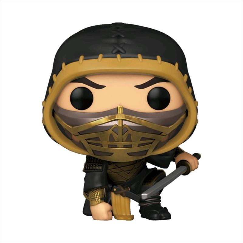 Mortal Kombat (2021) - Scorpion Crouch Metallic US Exclusive Pop! Vinyl [RS] | Pop Vinyl