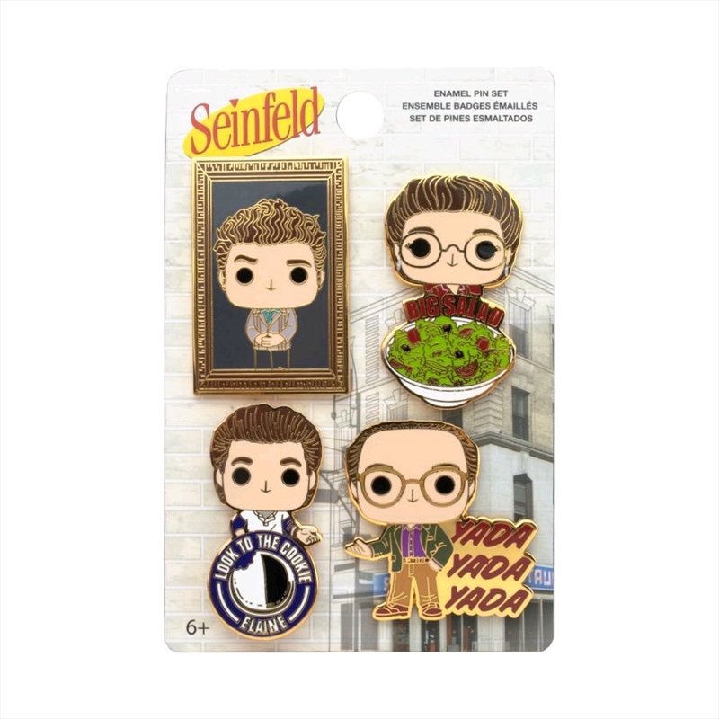 Seinfeld - Pop! Enamel Pin 4-pack   Merchandise