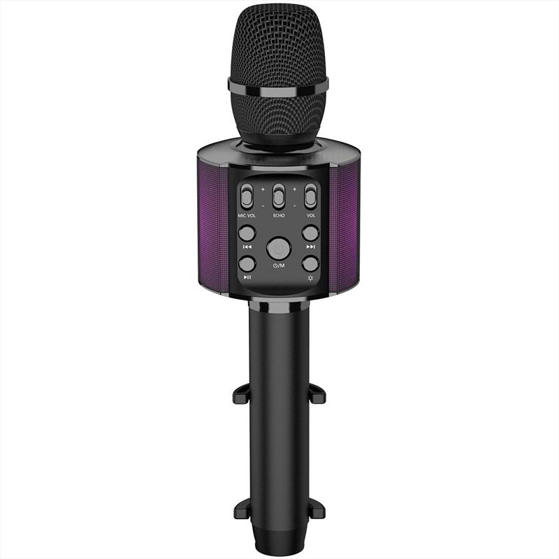 Laser Karaoke LED Microphone - Black   Hardware Electrical