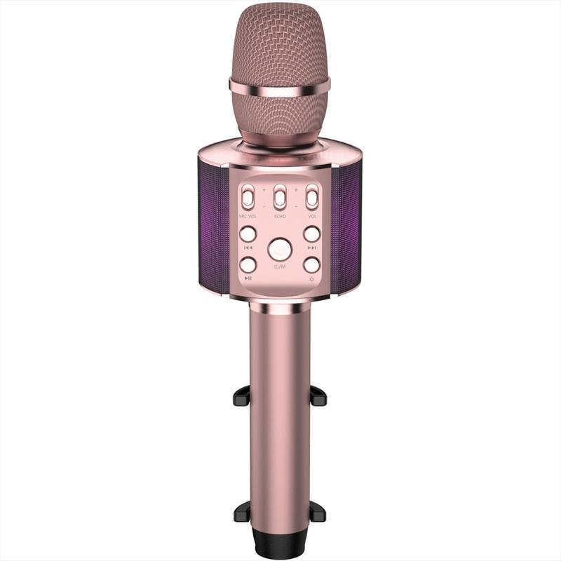 Laser Karaoke LED Microphone - Pink | Hardware Electrical