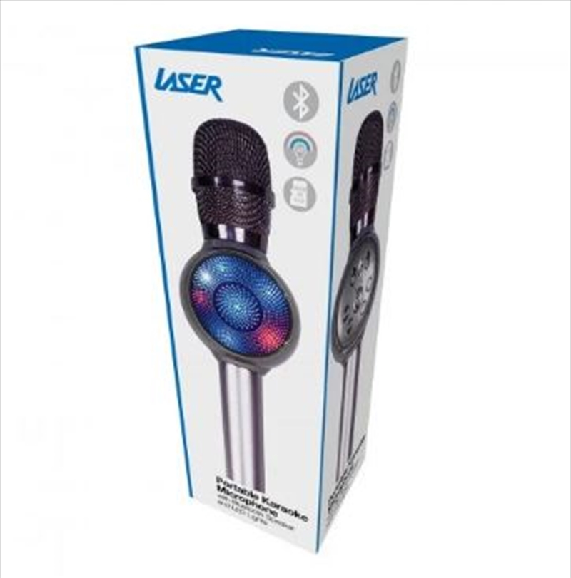 Laser - LED Karaoke Microphone Silver   Hardware Electrical