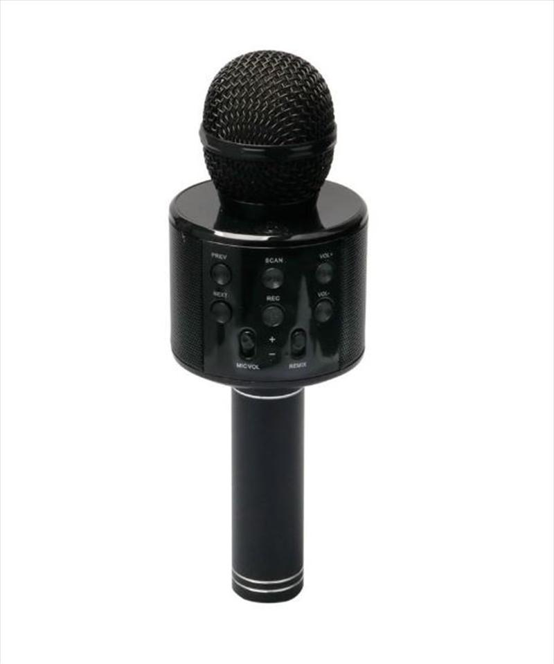 Laser - LED Karaoke Microphone Black   Hardware Electrical