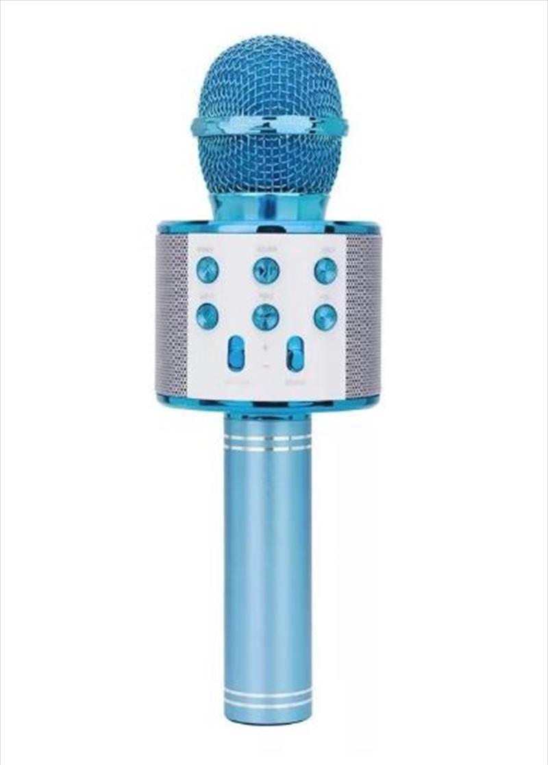 Laser - LED Karaoke Microphone Blue   Hardware Electrical