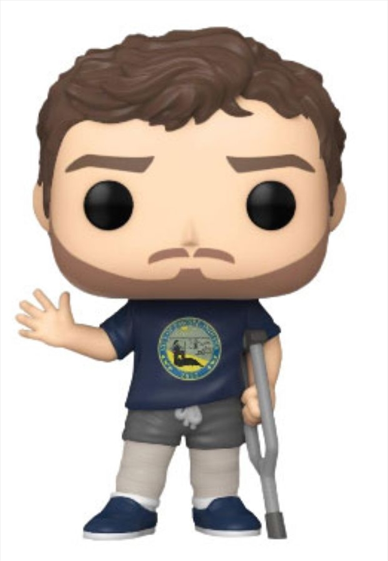 Parks and Recreation - Andy with Leg Casts US Exclusive Pop! Vinyl [RS] | Pop Vinyl