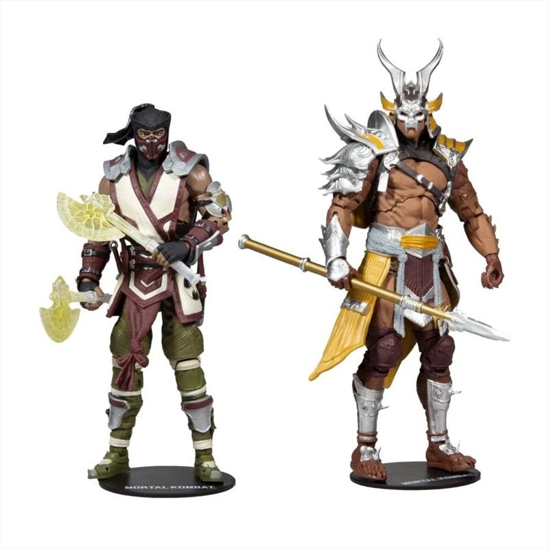 "Mortal Kombat - Sub-Zero vs Shao Khan 7"" Action Figure 2-pack | Merchandise"