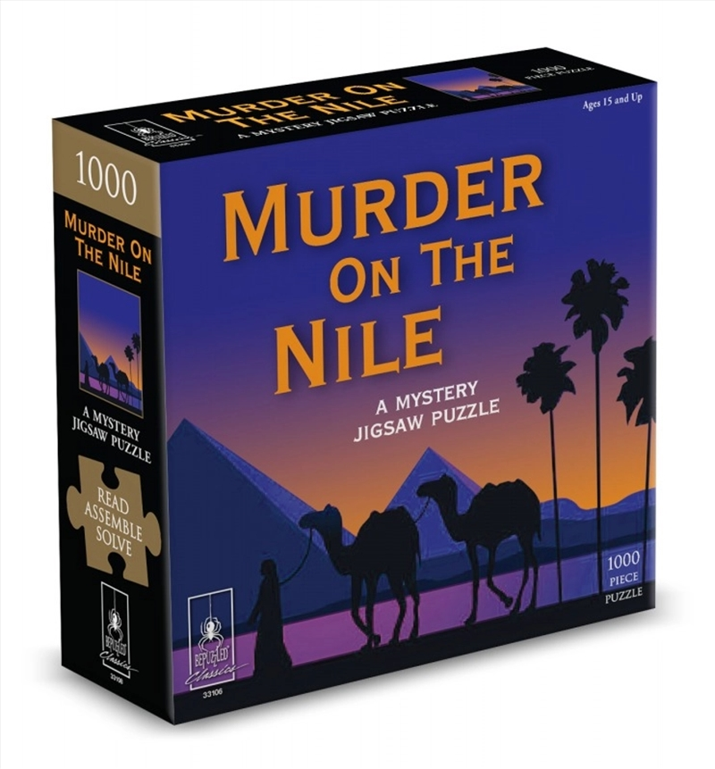 Murder On The Nile Mystery Puzzle - 1000 Piece   Merchandise