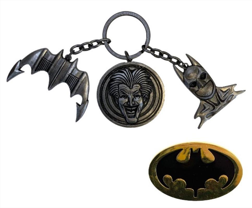 Batman (1989) - CHS Keychain & Pin Set | Collectable