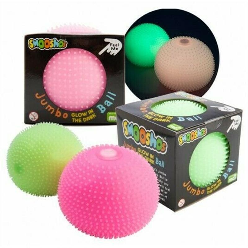 Jumbo Spiky Glow Green Ball | Toy