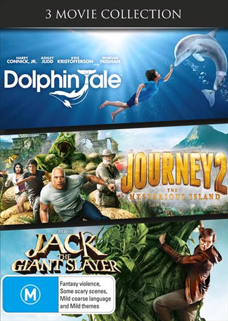 Dolphin Tale / Journey 2 - The Mysterious Island / Jack The Giant Slayer | DVD