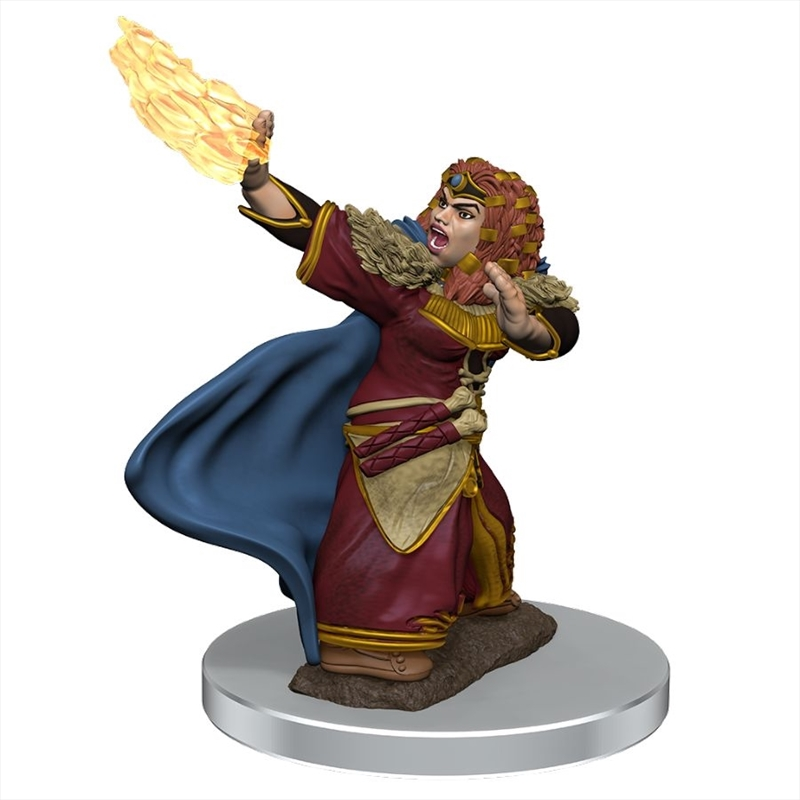 Dungeons & Dragons - Icons of the Realms Premium Female Dwarf Wizard   Games