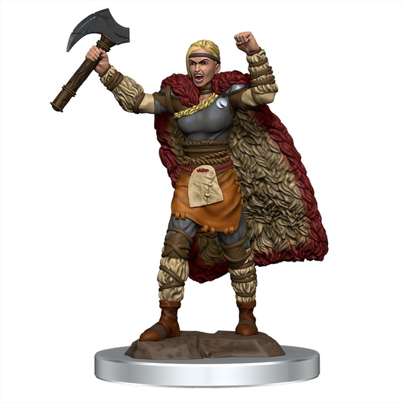 Dungeons & Dragons - Icons of the Realms Premium Female Human Barbarian   Games