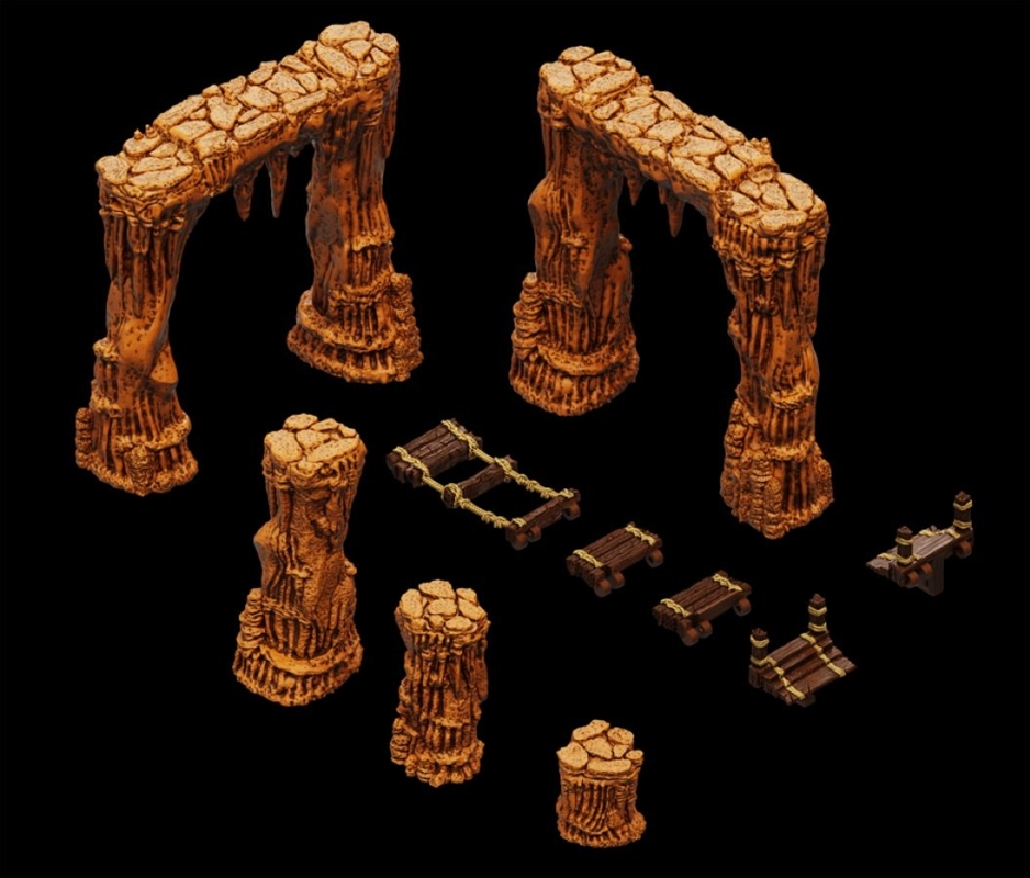 WarLock Tiles - Dripstone Bridges | Games