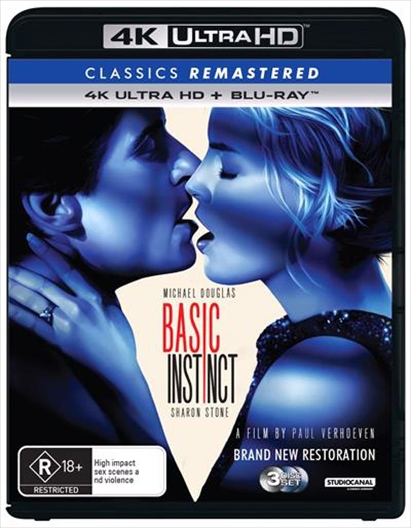 Basic Instinct   Blu-ray + UHD - Classics Remastered   UHD
