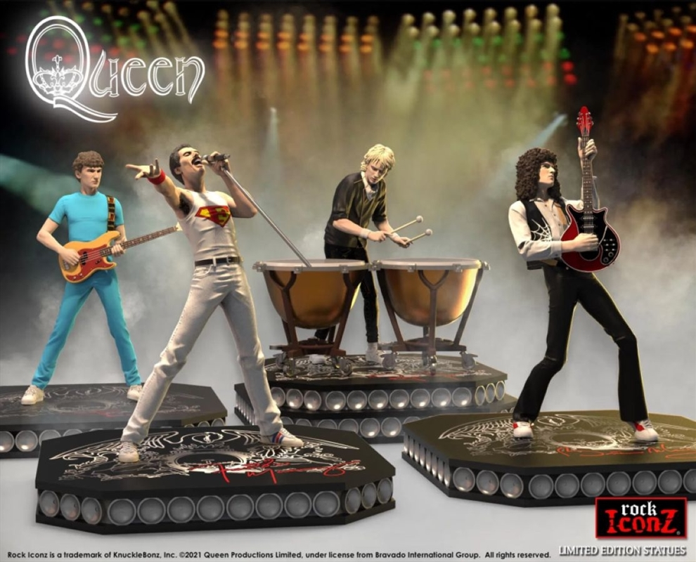 Queen - Rock Iconz Statue Set of 4   Merchandise