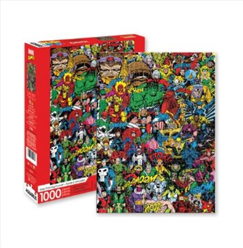 Marvel – Retro Cast 1000pc Puzzle | Merchandise