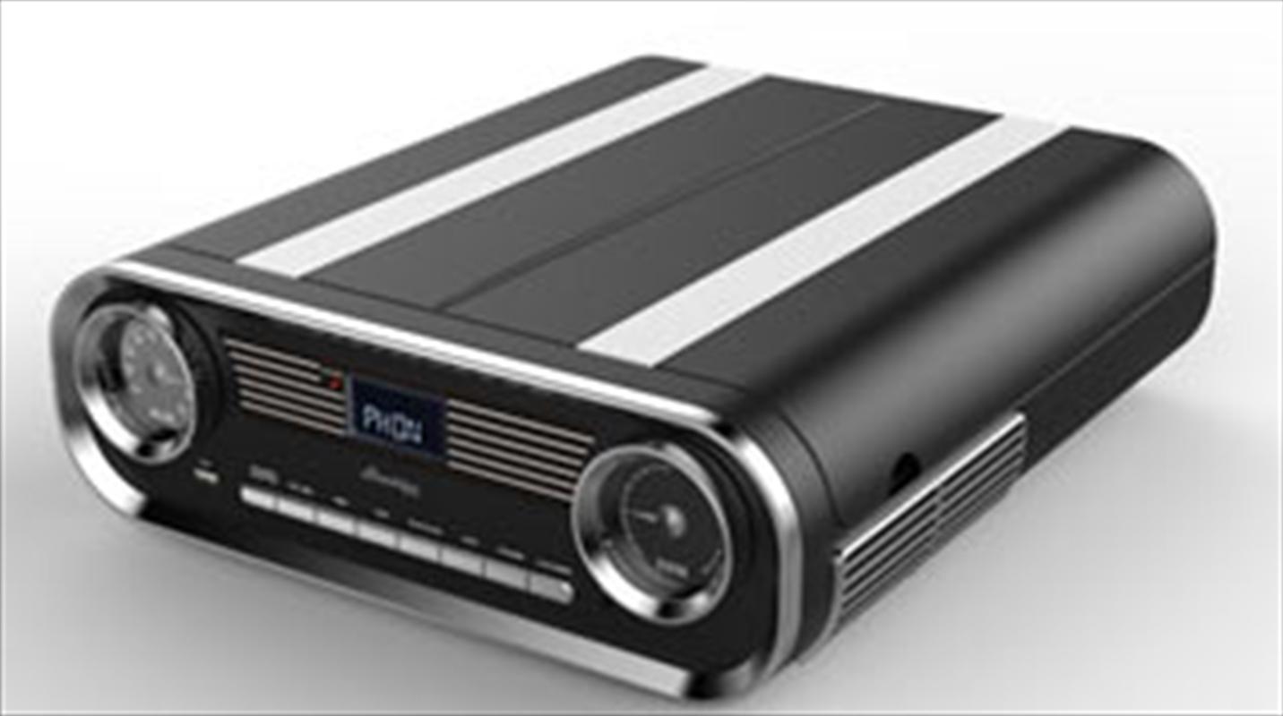 Retro Radio Turntable - Black | Hardware Electrical