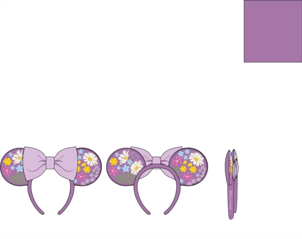 Loungefly - Mickey Mouse - Minnie Embroidered Flowers Headband   Merchandise