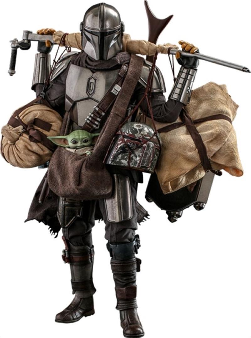 Star Wars: The Mandalorian - Mandalorian & Grogu Deluxe 1:6 Scale Action Figure Set | Merchandise