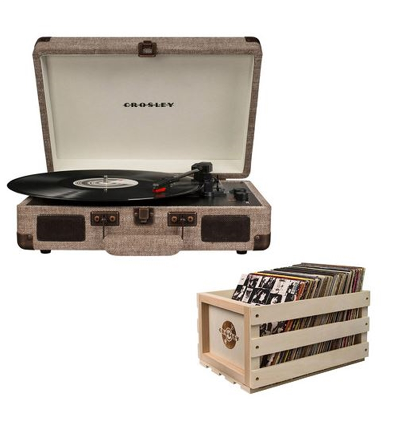 Crosley Cruiser Bluetooth Portable Turntable with Storage Crate - Havana   Hardware Electrical