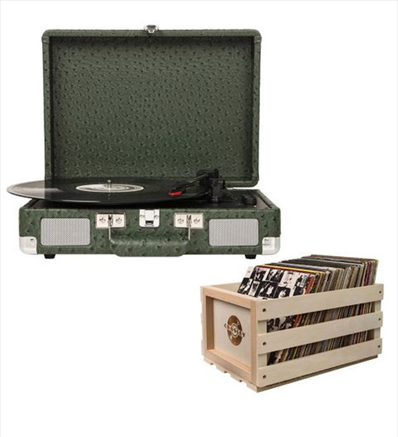 Crosley Cruiser Bluetooth Portable Turntable with Storage Crate - Ostrich | Hardware Electrical