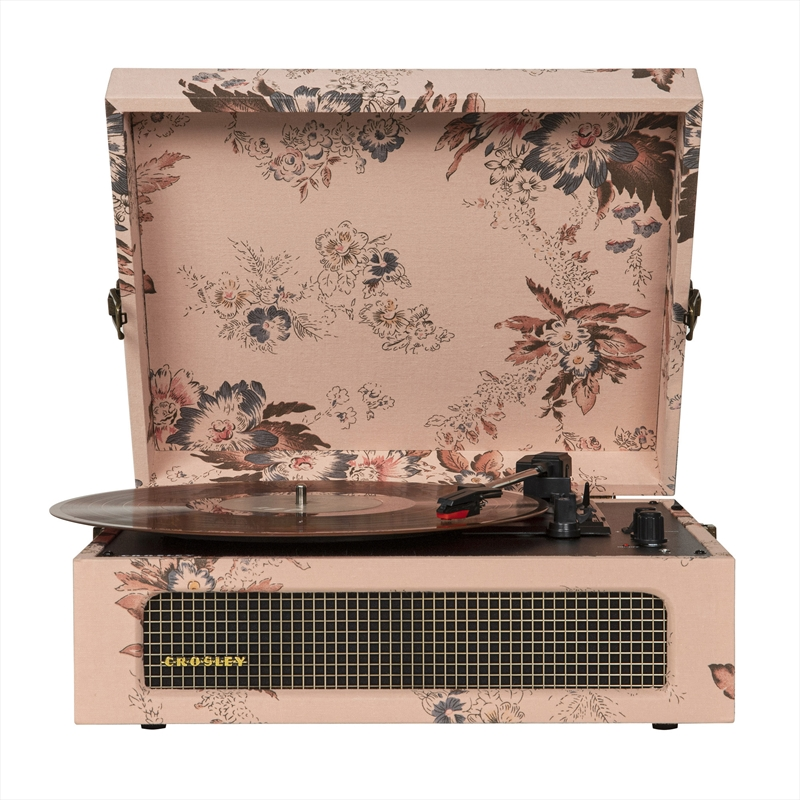 Crosley Cruiser Bluetooth Portable Turntable - Floral   Hardware Electrical