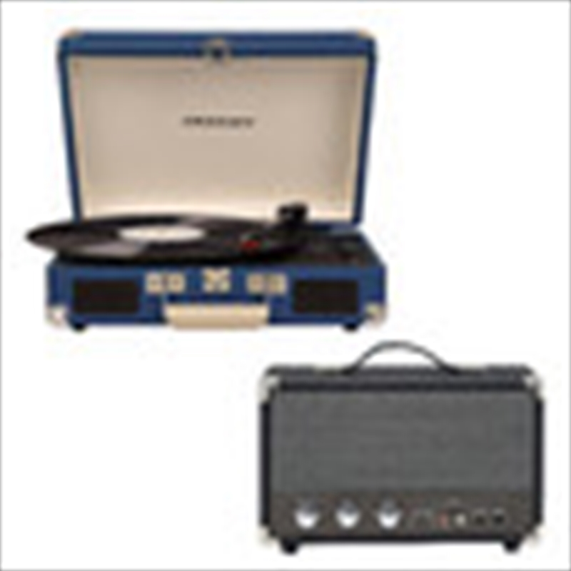 Crosley Cruiser Bluetooth Portable Turntable with Speaker - Blue | Hardware Electrical