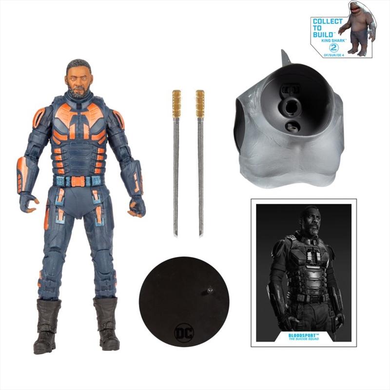 """The Suicide Squad - Bloodsport Unmasked 7"""" Action Figure   Merchandise"""