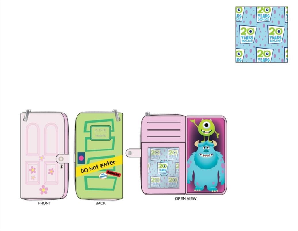 Loungefly - Monsters Inc - Boo's Door Zip Around Purse   Apparel