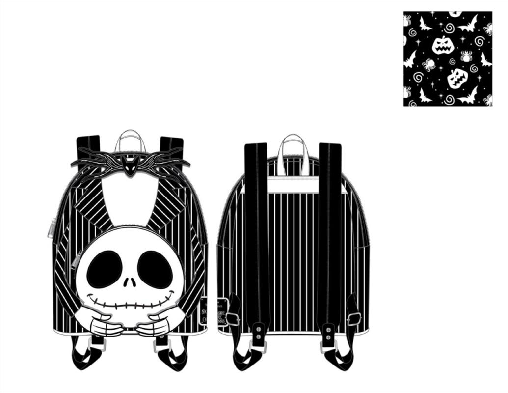 Loungefly - Nightmare Before Christmas - Headless Jack Skellington Mini Backpack   Apparel