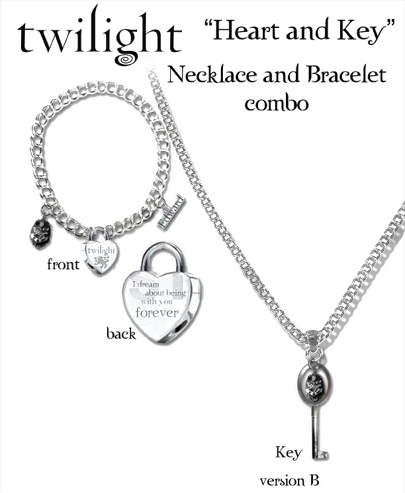 Heart And Key Necklace & Bracelet | Merchandise