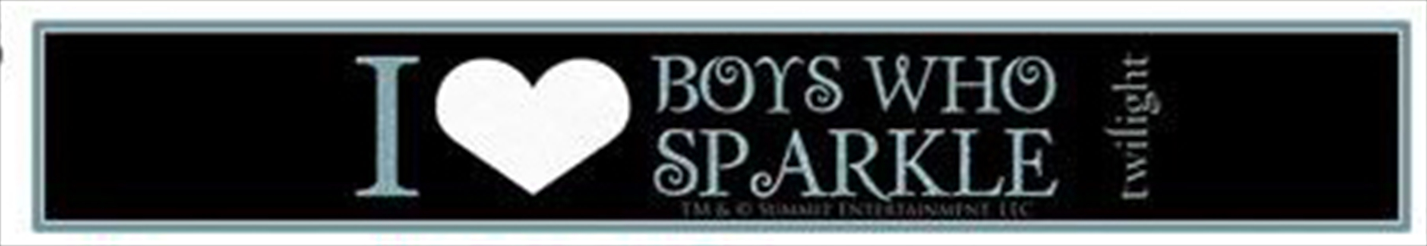 I Love Boys Who Sparkle Slap Bracelet | Merchandise