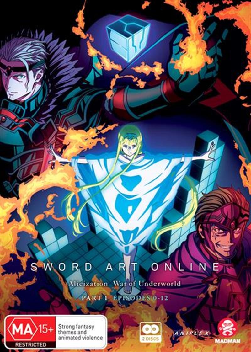 Sword Art Online Alicization - War Of Underworld - Part 1 - Eps 0-12   DVD