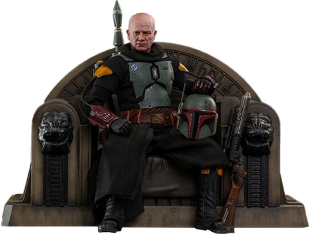 "Star Wars: The Mandalorian - Boba Fett on Throne 1:6 Scale 12"" Action Figure | Merchandise"