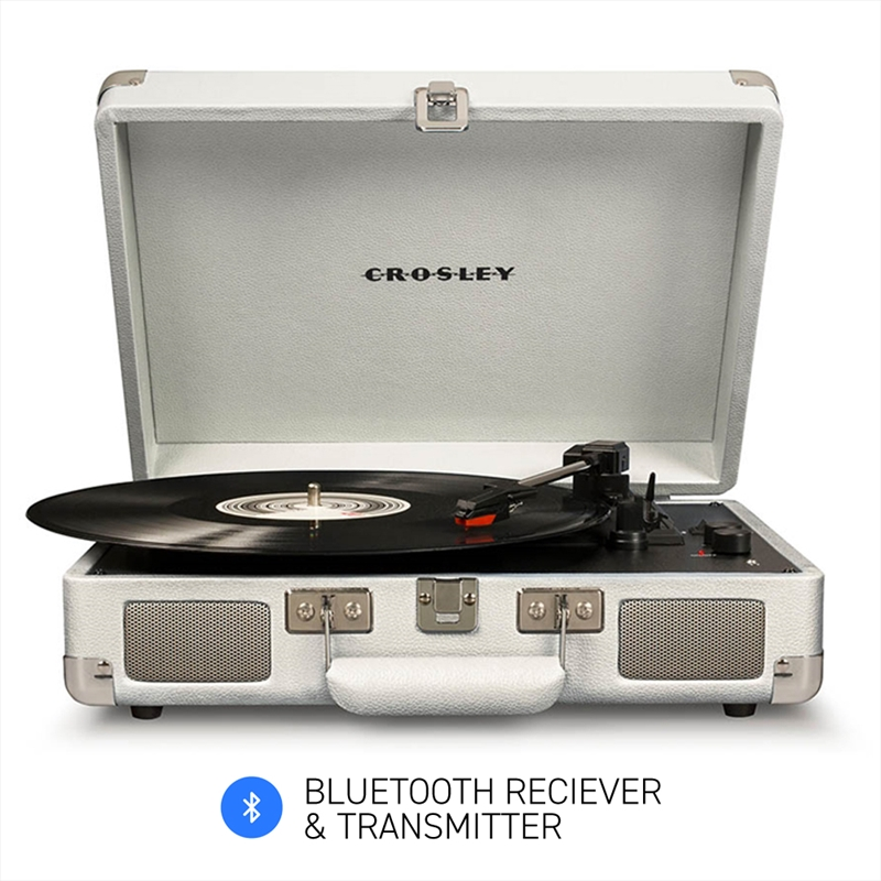 Crosley Cruiser White Sands – Bluetooth Portable Turntable | Hardware Electrical