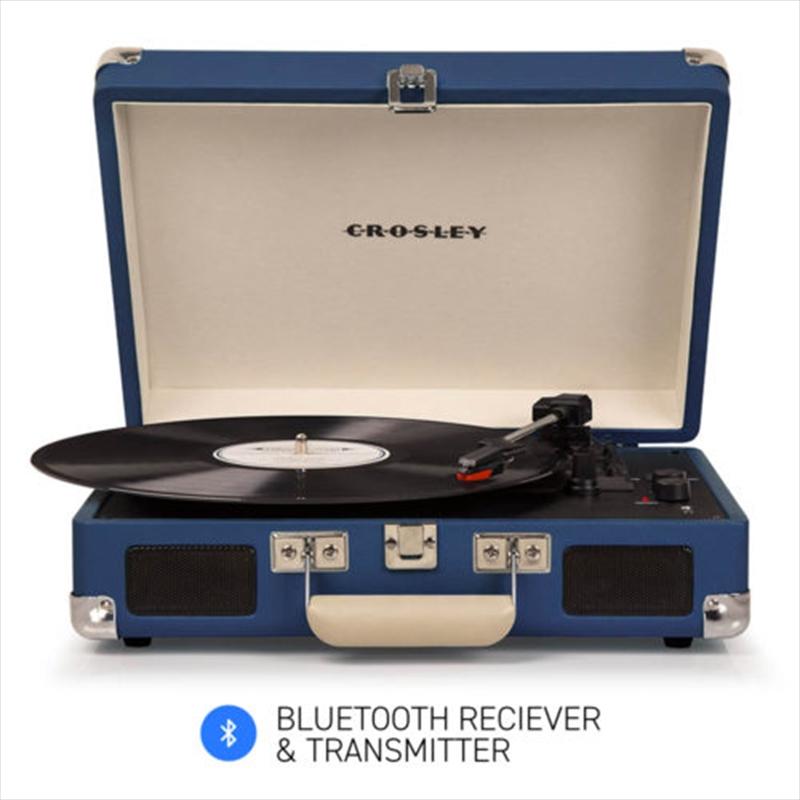 Crosley Cruiser Blue – Bluetooth Portable Turntable   Hardware Electrical