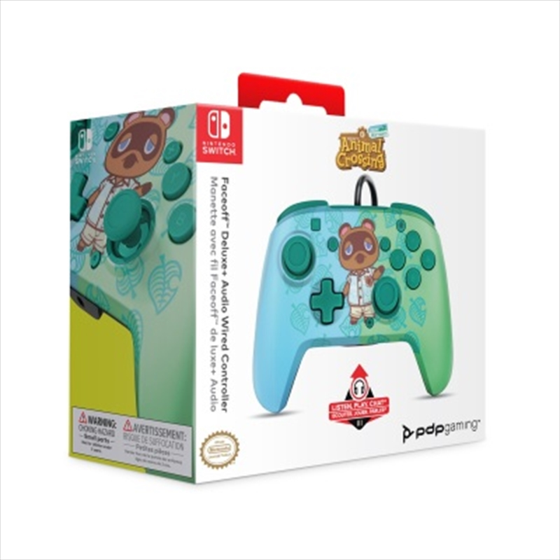 Switch Faceoff Deluxe Audio Wired Controller Animal Crossing   Nintendo Switch